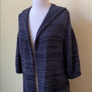 New York & Company Sweaters - NY&Co Open Short Sleeve Belted Long Cardigan